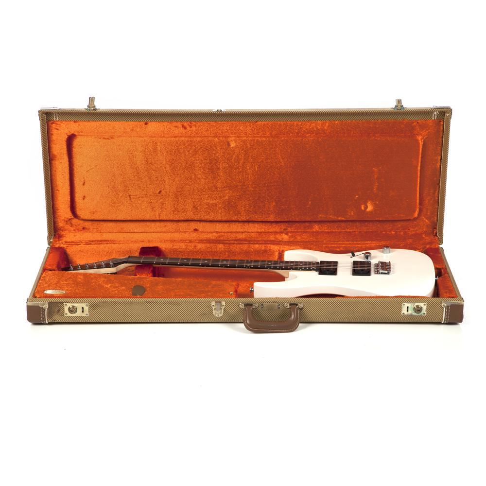 White Electric Guitar and Carry Case