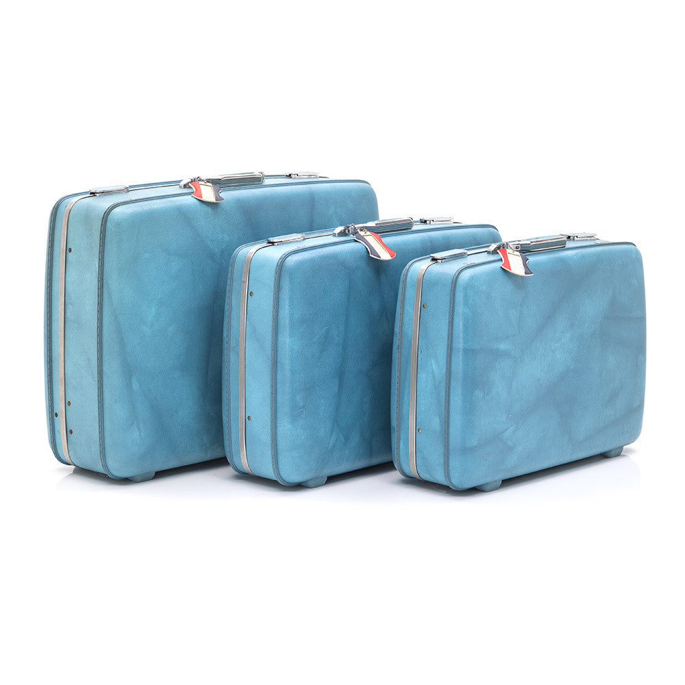 Blue American Tourister Luggage Set