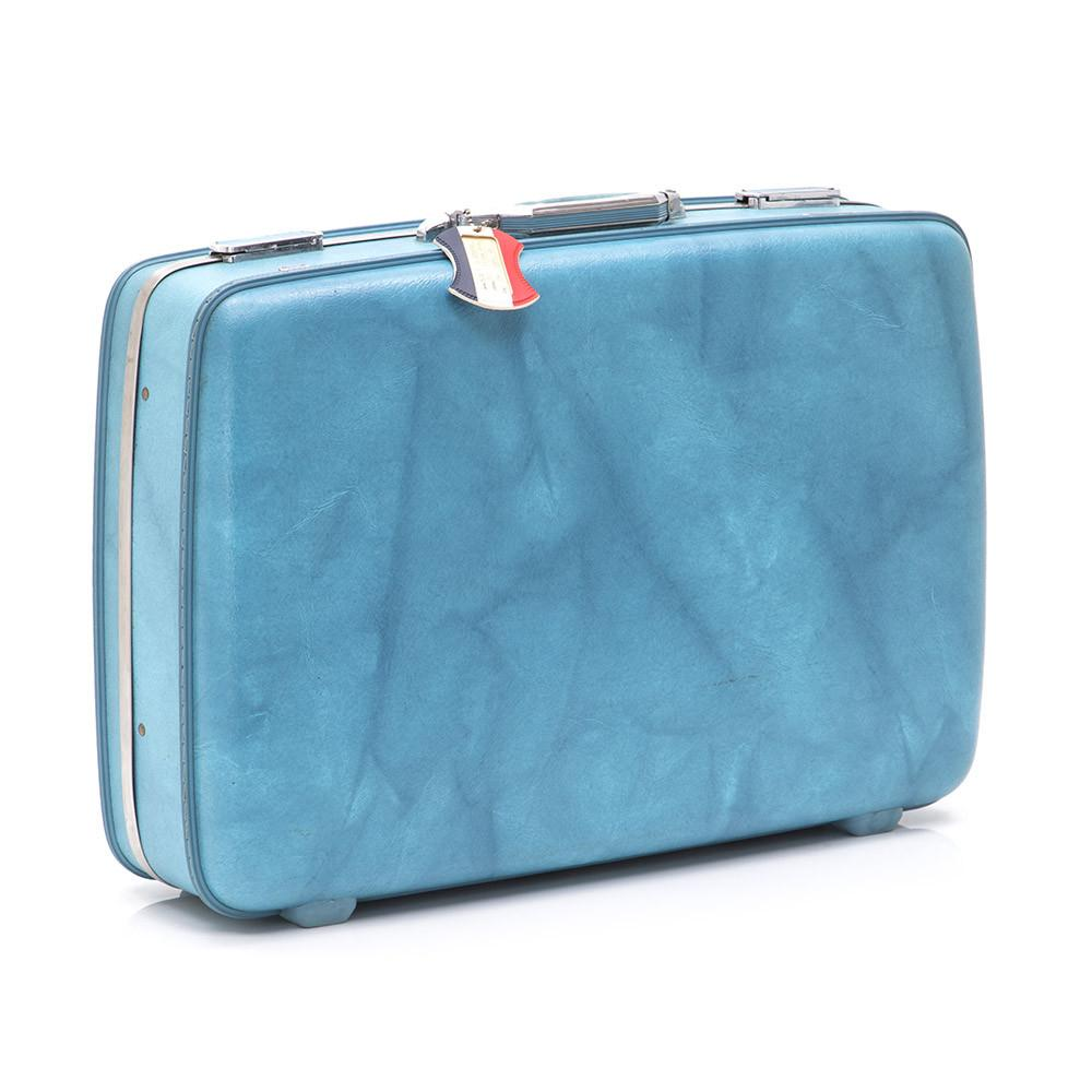 Blue American Tourister Medium Suitcase