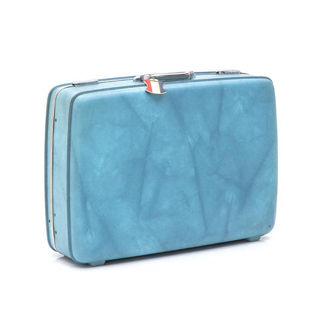 Blue American Tourister Large Suitcase