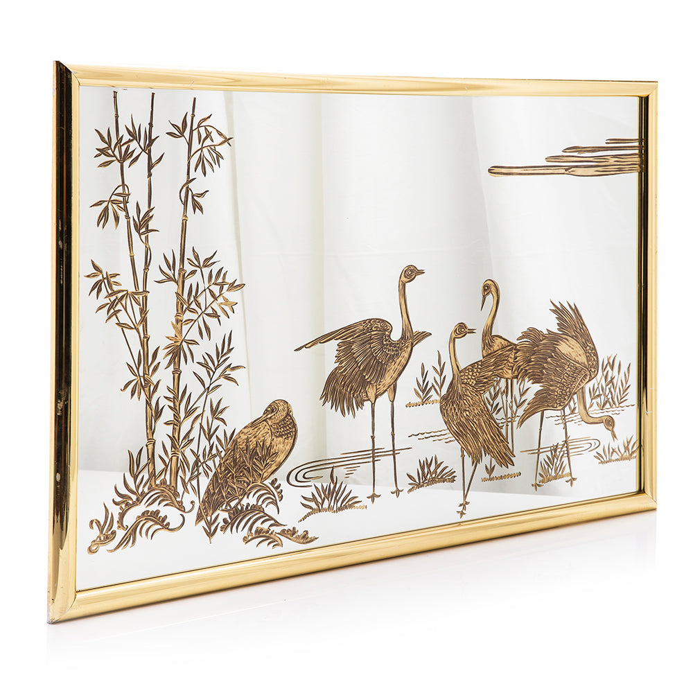 Gold Heron Mirror