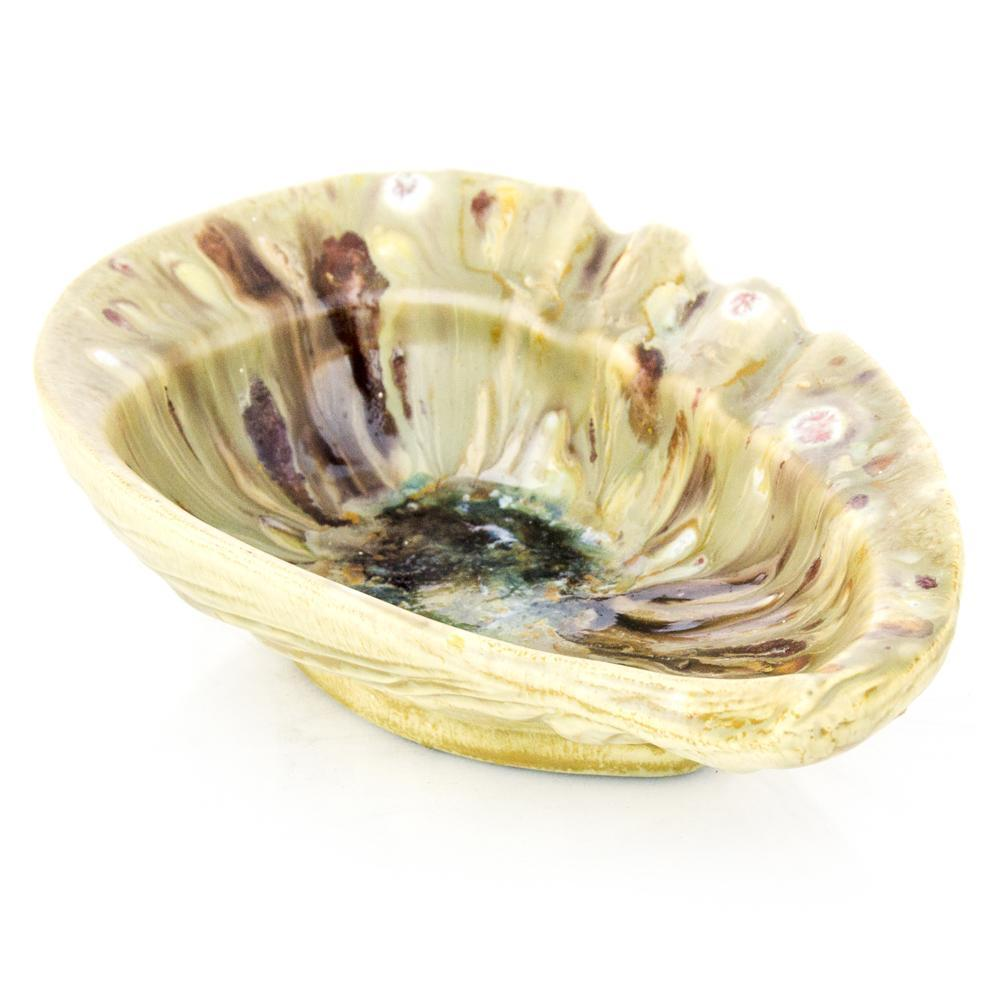 Yellow Shell Shaped Ceramic Ashtray