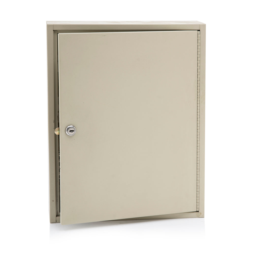 Beige Metal Key Lock Box