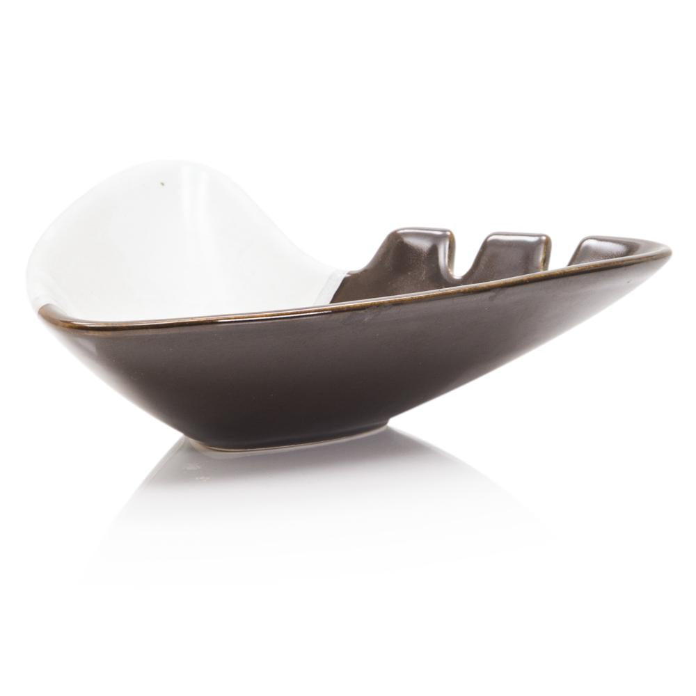 Brown and White Ashtray