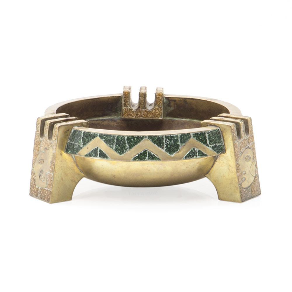 Gold and Green Ashtray