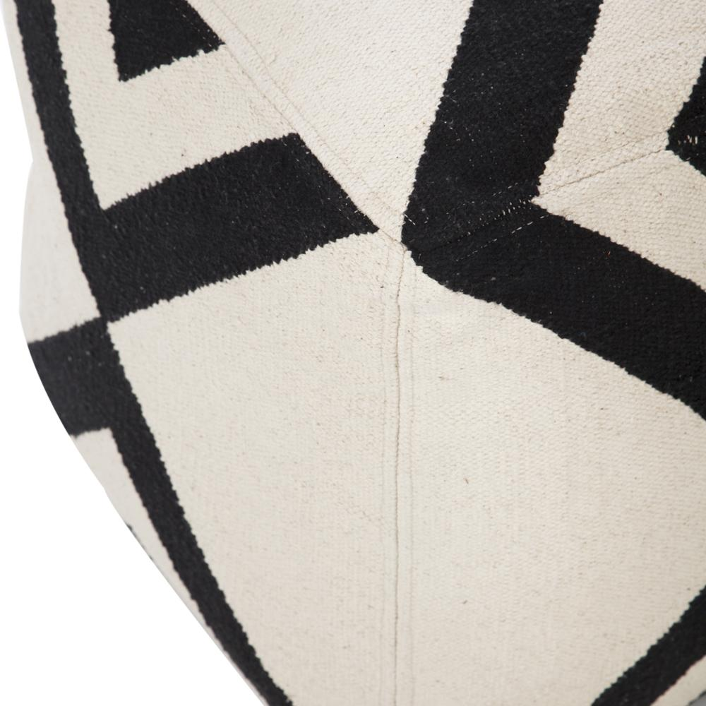 Black and White Triangle Tribal Pouf