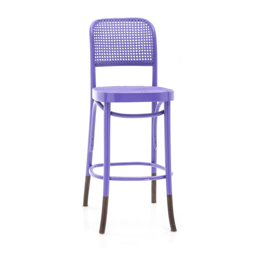 Cane Back Barstool - Purple