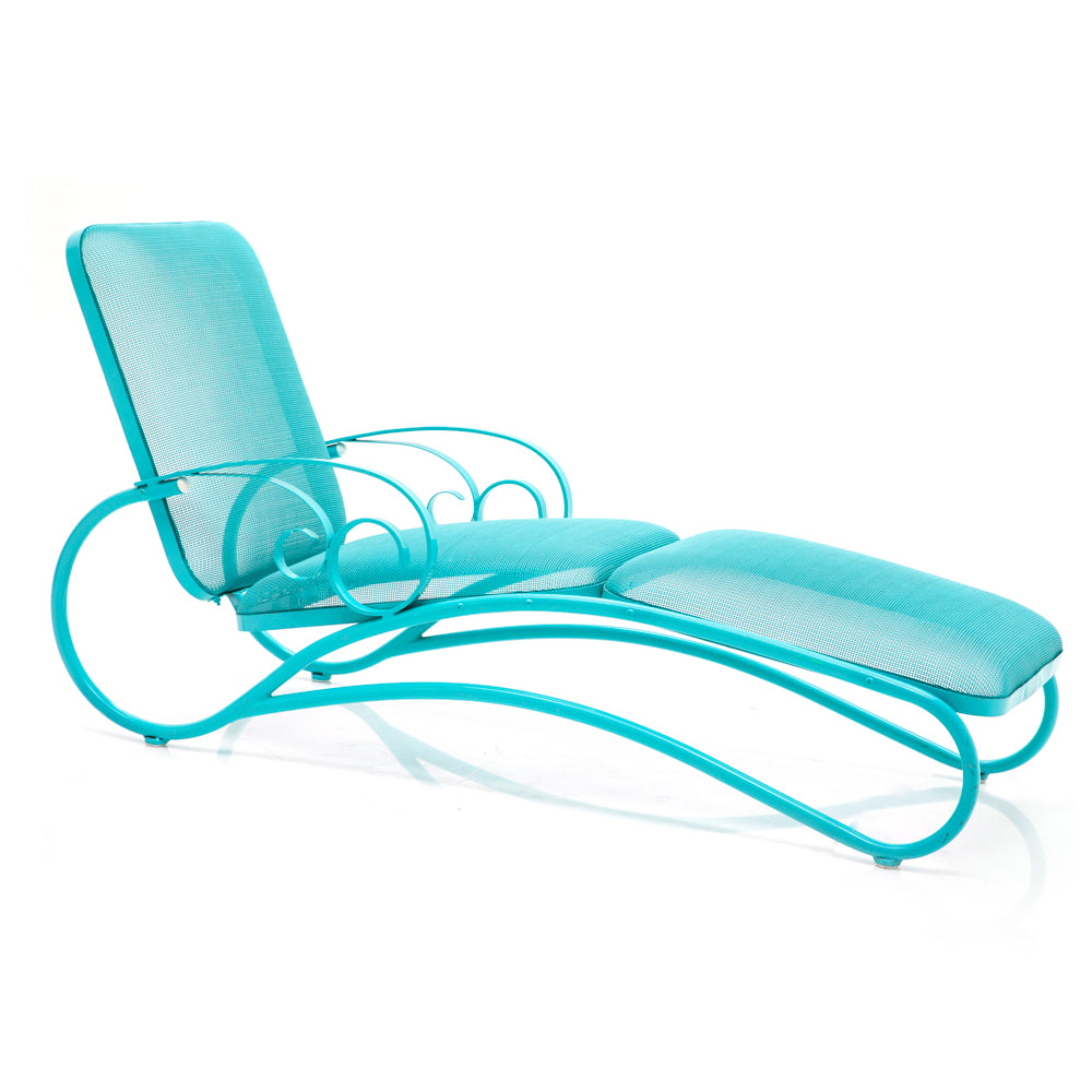 Teal Woodward Chaise