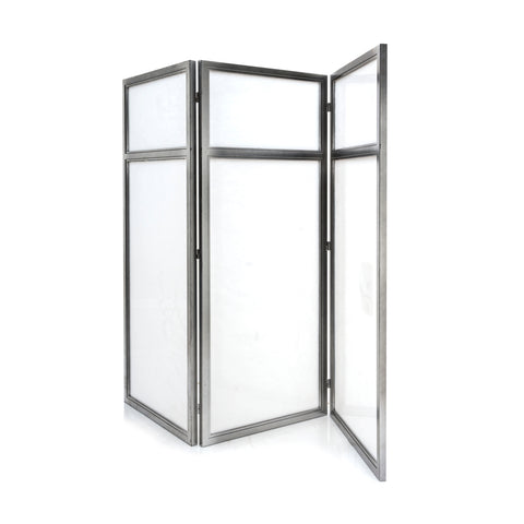 Grey Metal Framed Screen