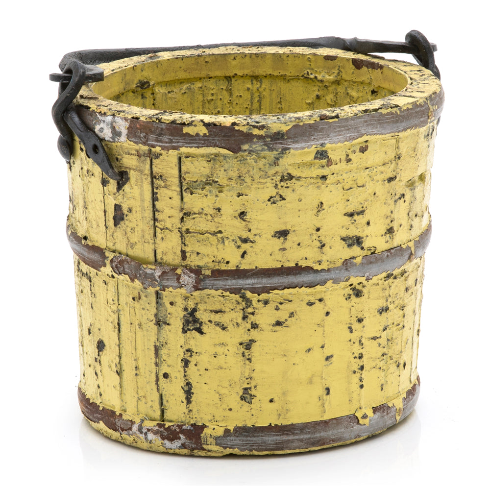 Small Yellow Wood Bucket