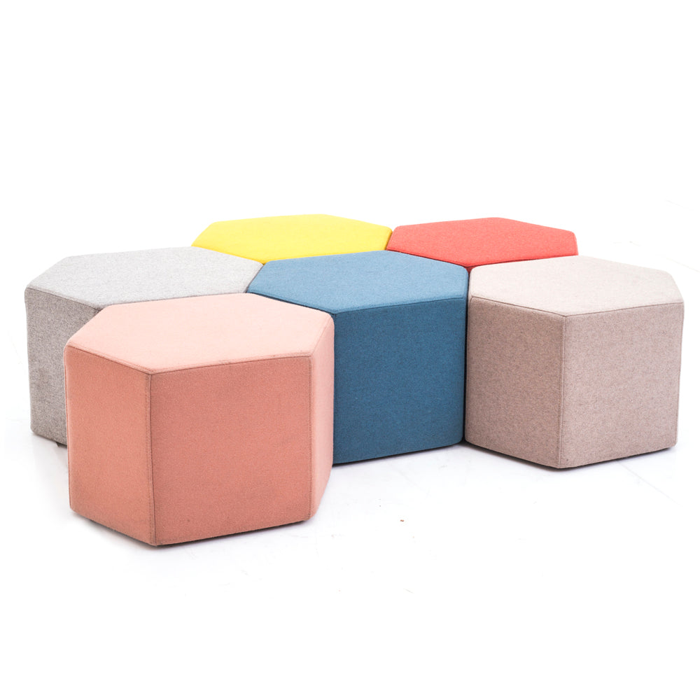 Hexagonal Ottoman - Yellow