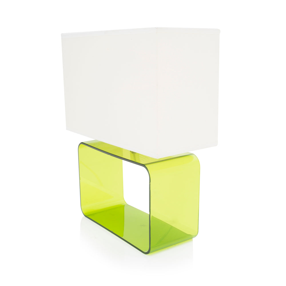 Green Plexi Table Lamp