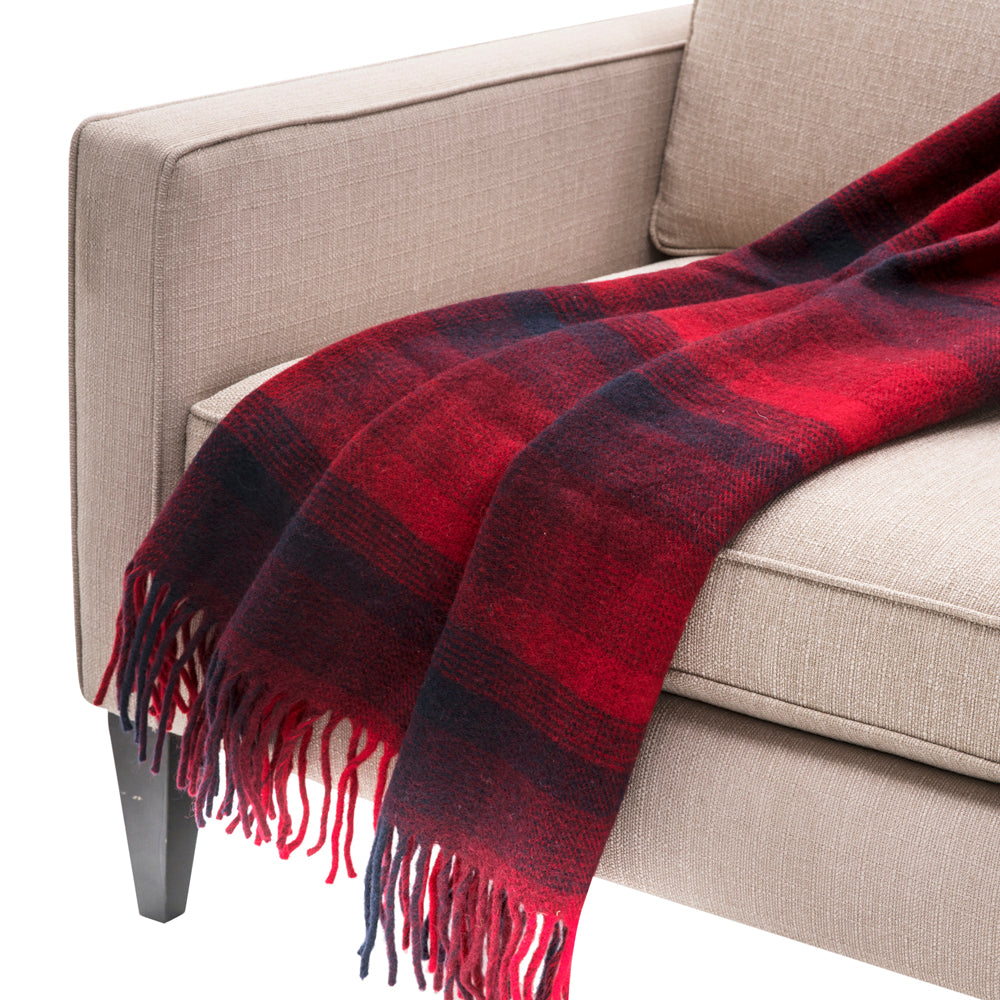 Black and Red Plaid throw