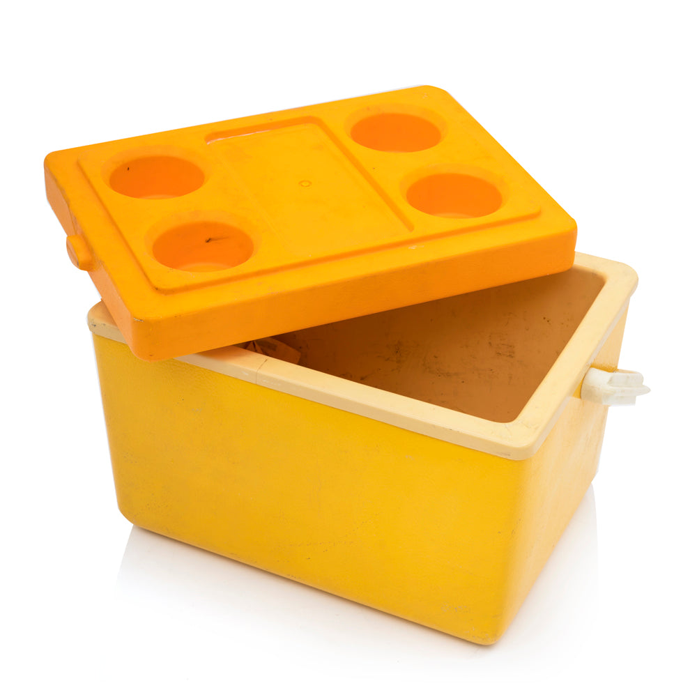 Yellow Plastic Picnic Cooler