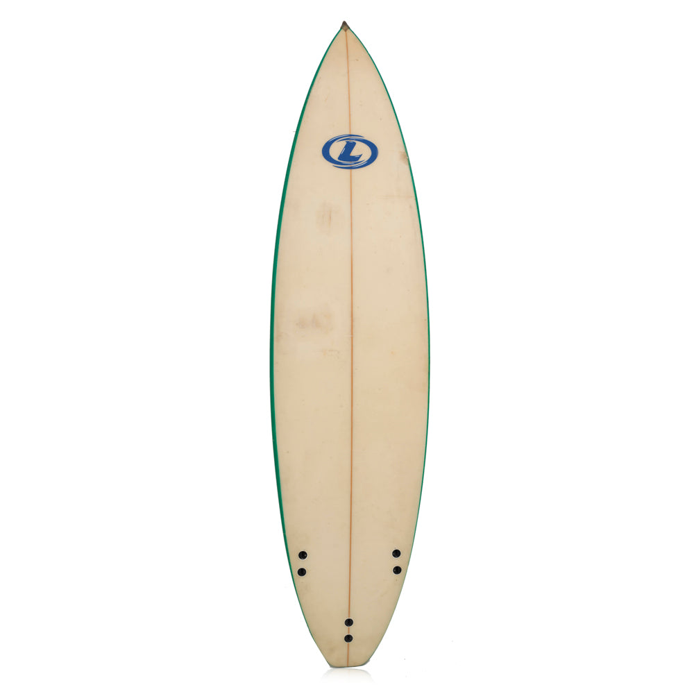Green and White Surfboard