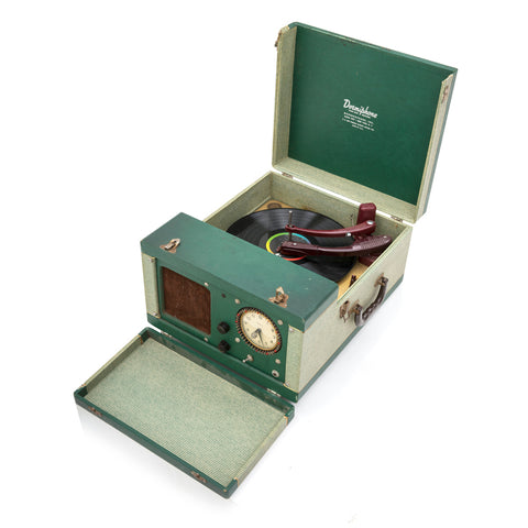 Green Dormiphone Portable Record Player