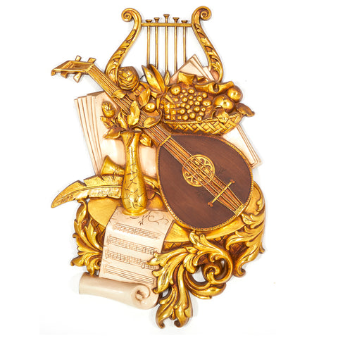 Baroque Gold Instruments Wall Sculpture