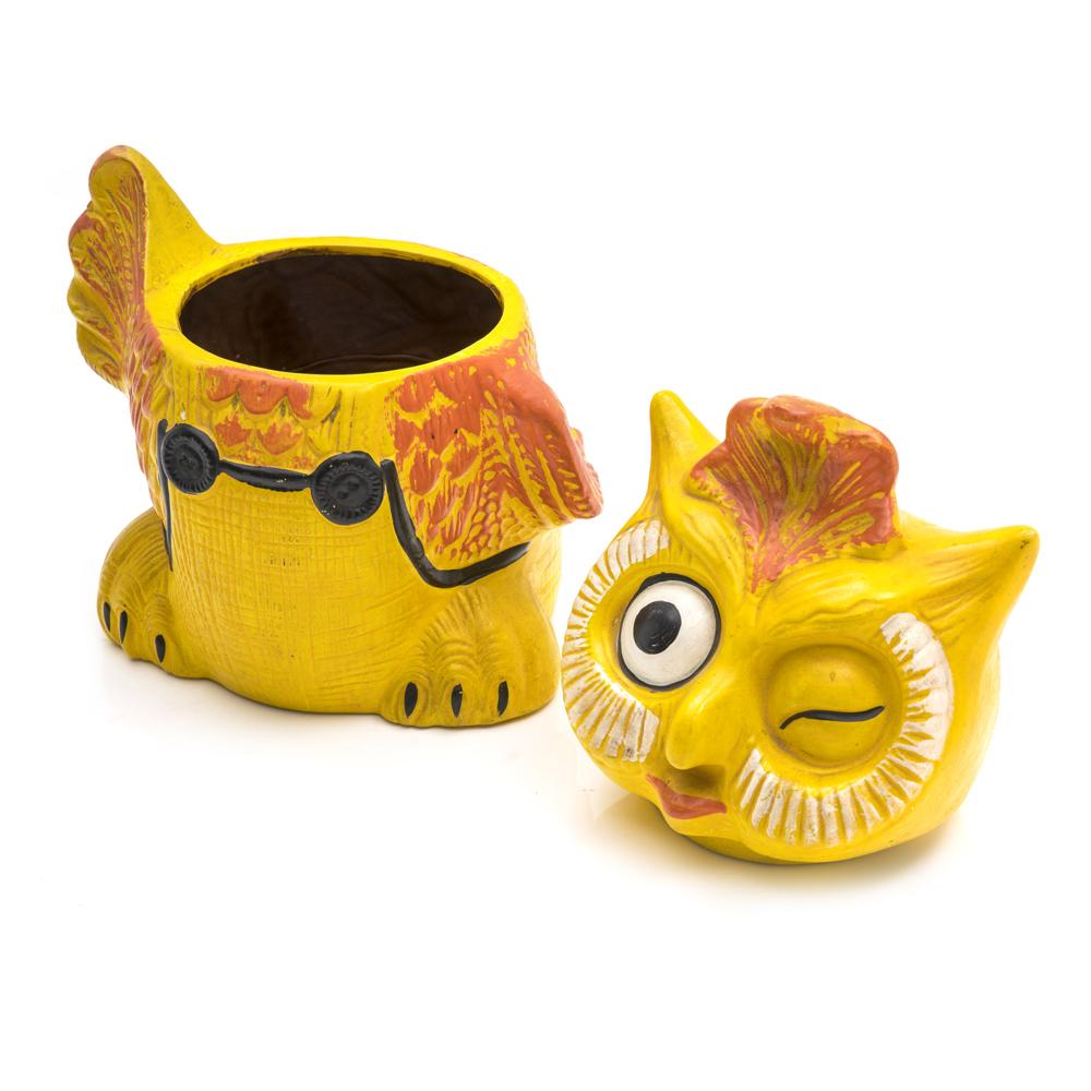 Yellow Owl Cookie Jar