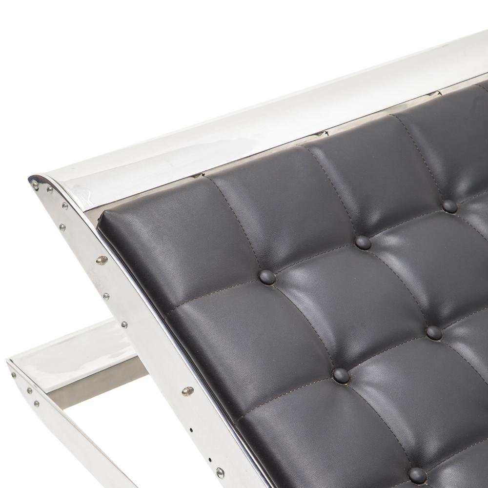 Black Chrome Chaise Lounger