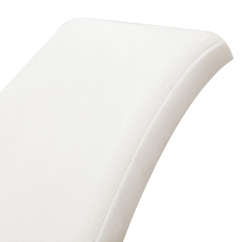White Fiberglass Chaise with Arms