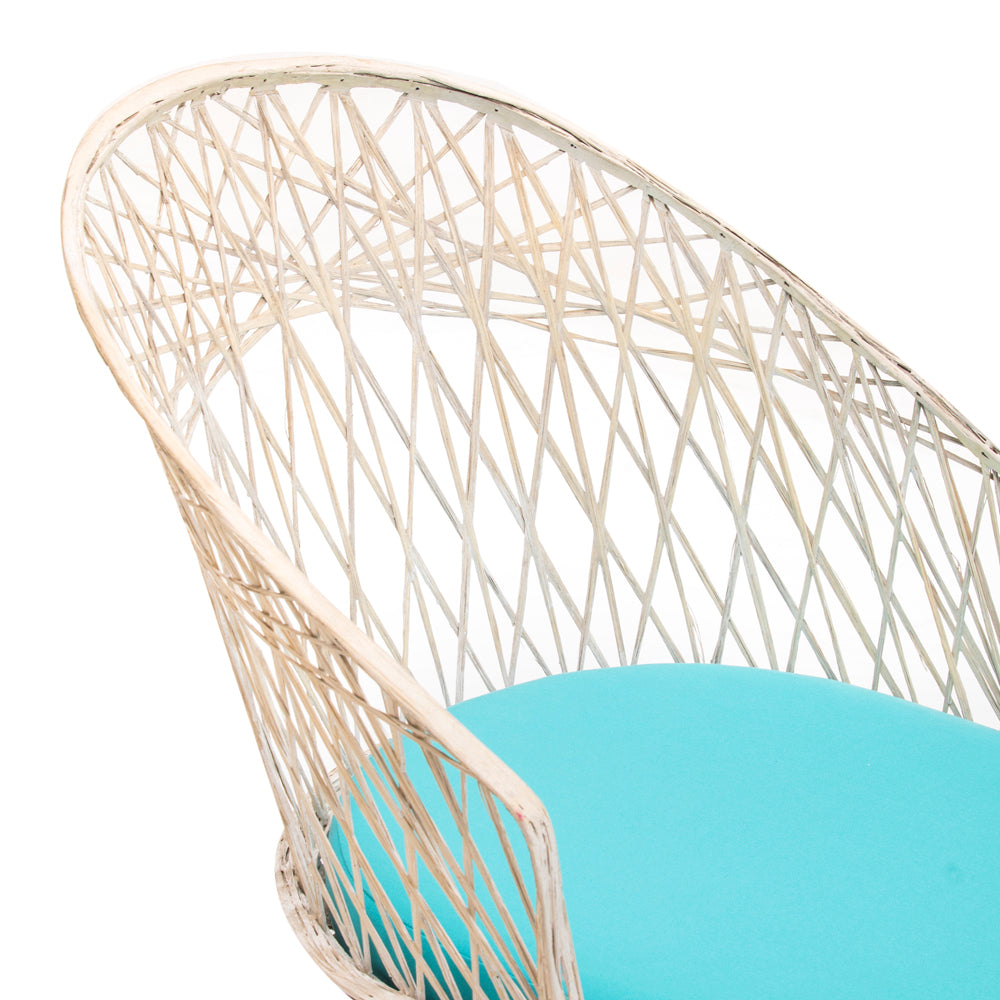 White Woven Outdoor Chaise