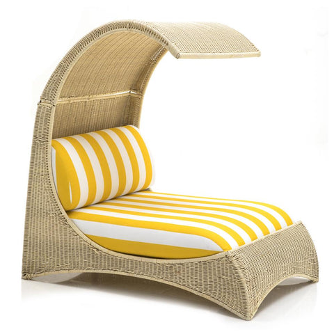 Outdoor Wicker Double Chaise