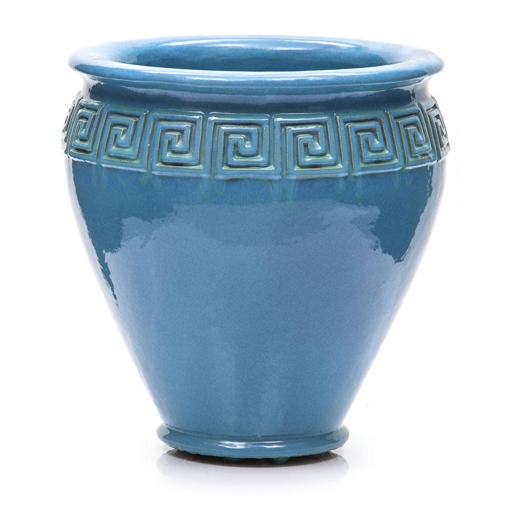 Blue Grecian Ceramic Pot