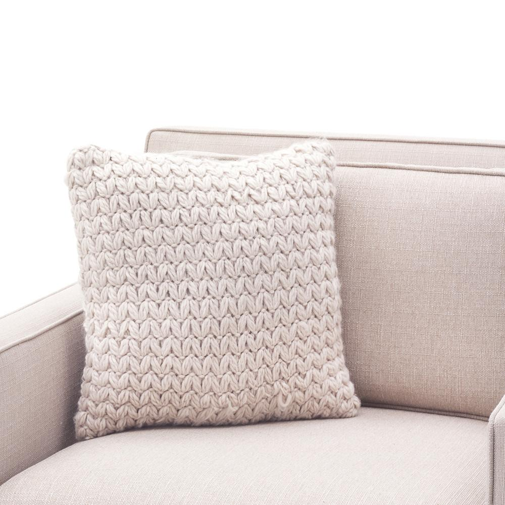 Beige Heavy Knit Pillow