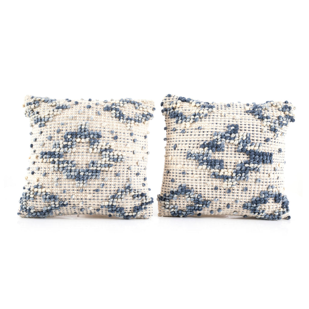 Blue Diamond Knot Pillow