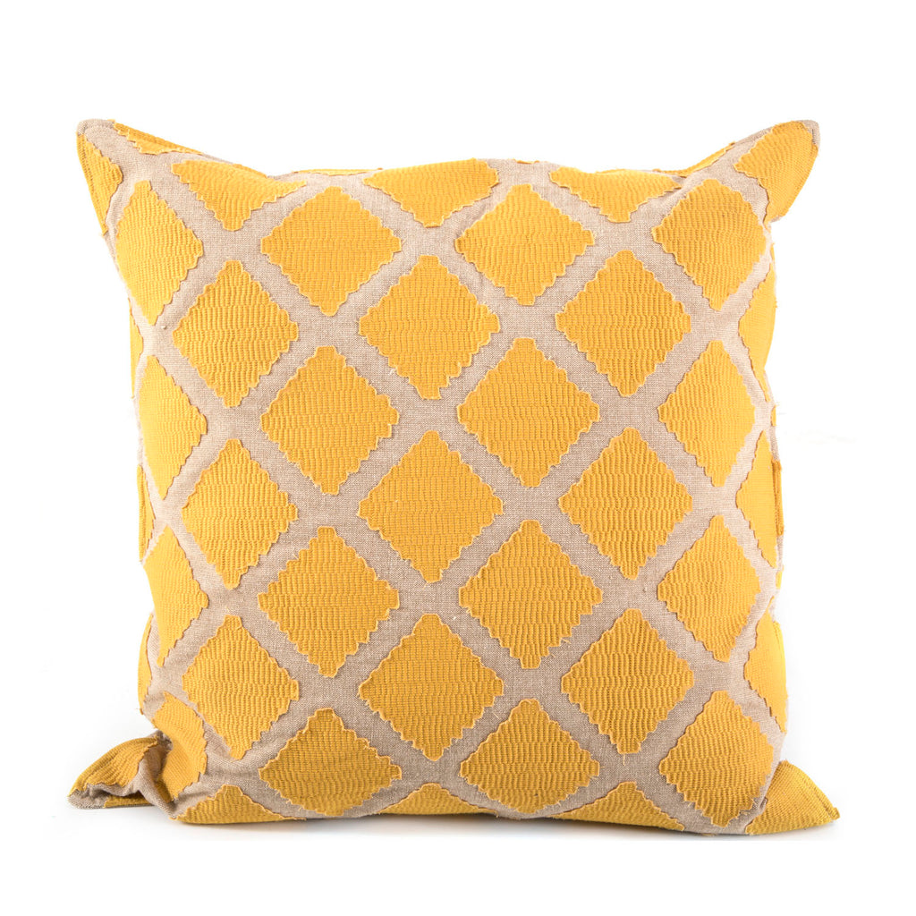Mustard Diamond Pattern Pillow