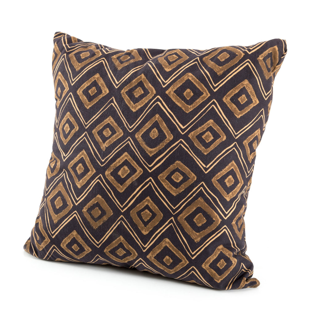 Brown Black Diamond Pillow