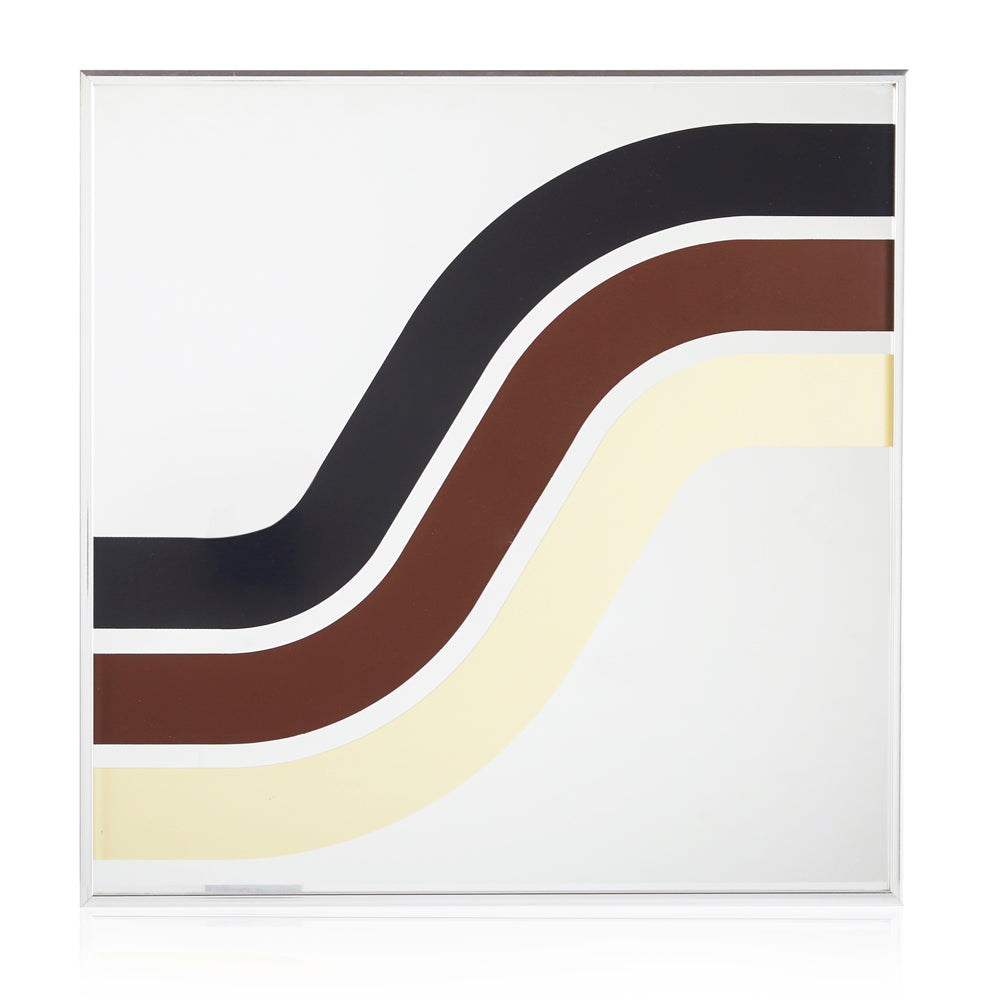 70's Stripes Square Wall Mirror