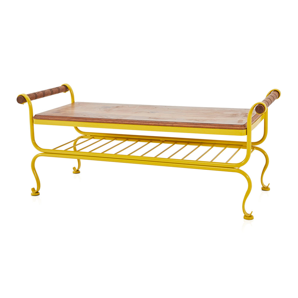 Yellow Outdoor Bench
