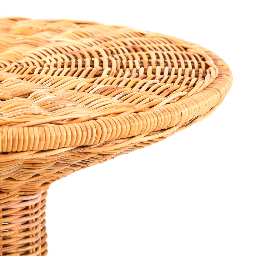 Tulip Wicker Side Table