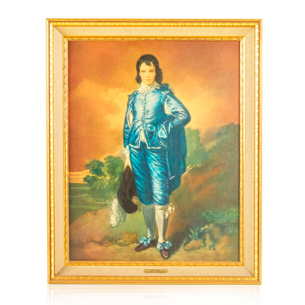Rococo Blue Boy Oil Painting