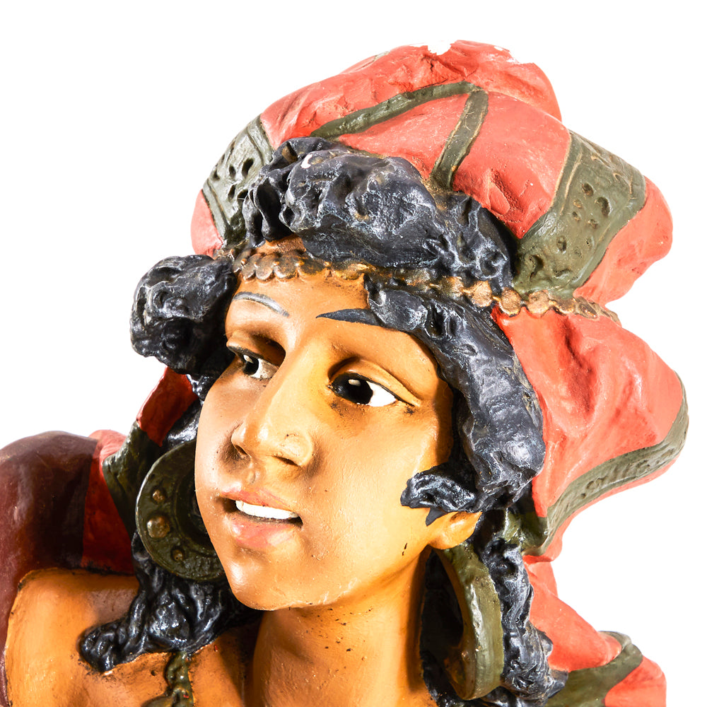 Painted Gypsy Woman Bust