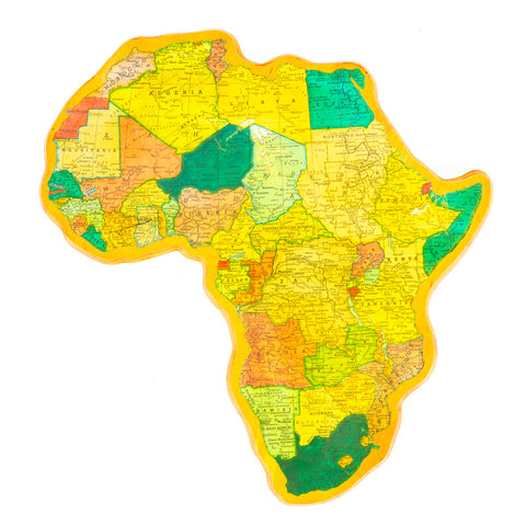 Africa Wood Wall Map Art