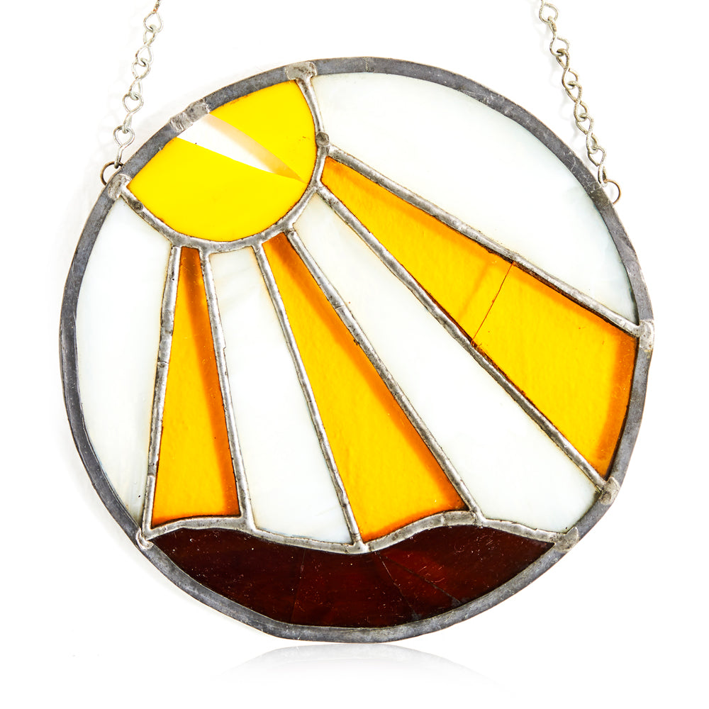 Hanging Stained Glass - Sun