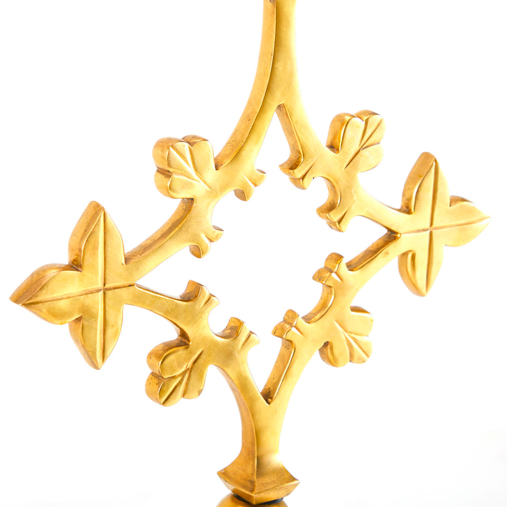 Ornate Gold Cross Sculpture