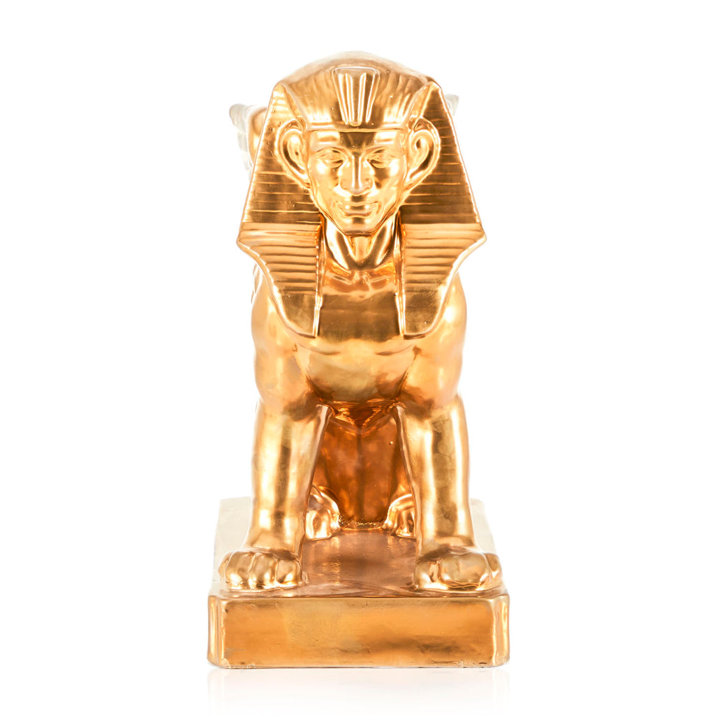 Gold Painted Sphinx Statue