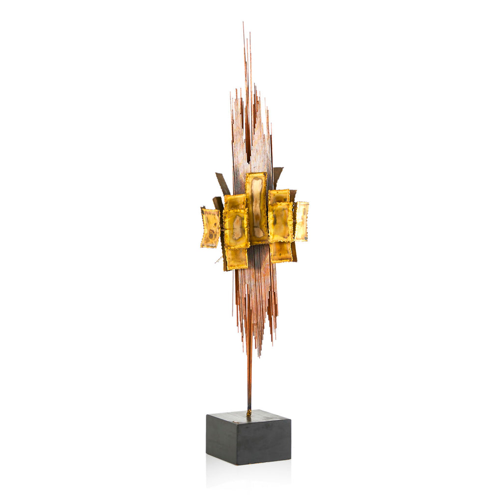 Copper and Brass Metal Sculpture