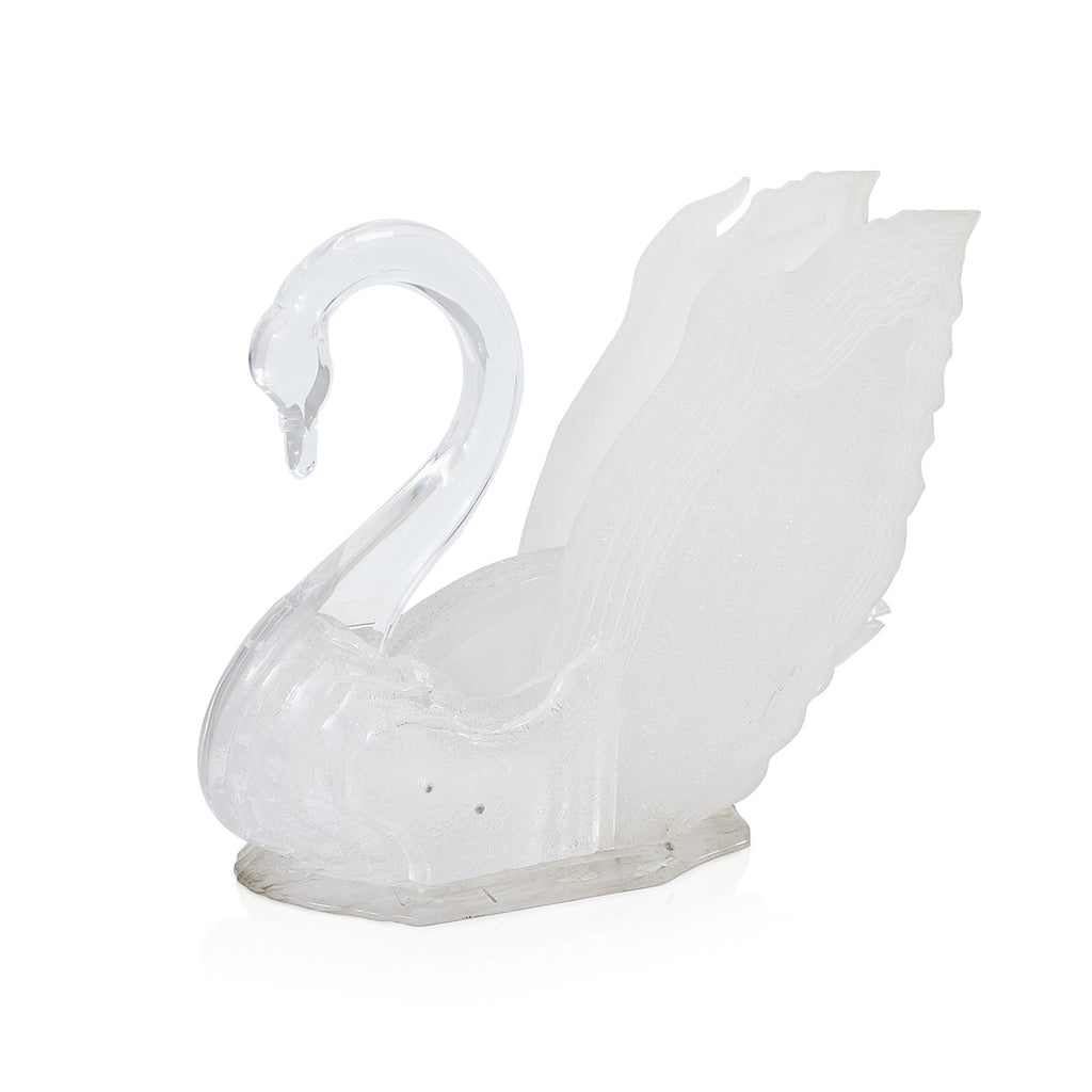 Large Lucite Swan Sculpture