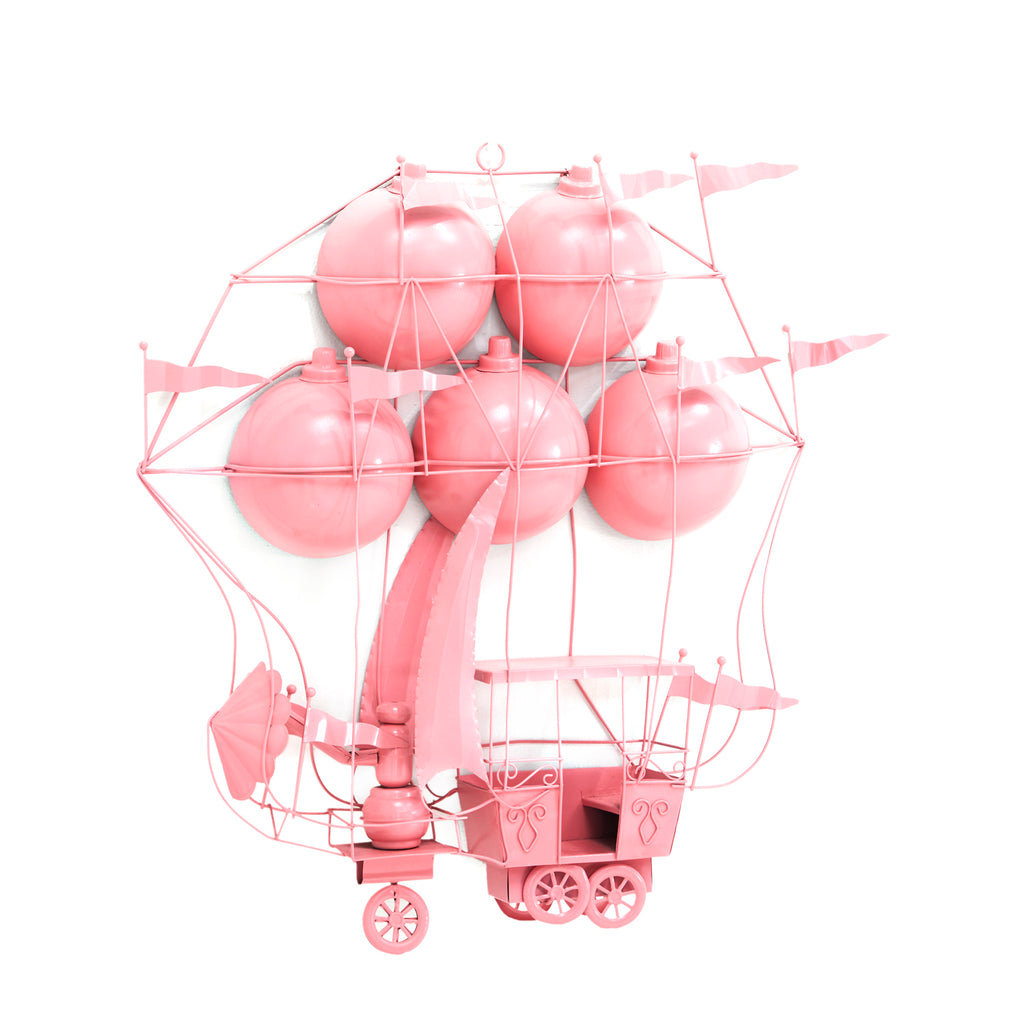 Pink Flying Airship Wall Art