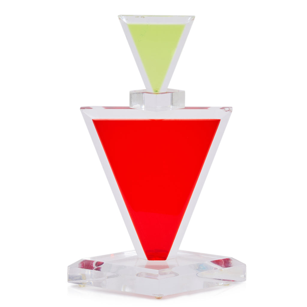 Triangle Decanter Acrylic Sculpture