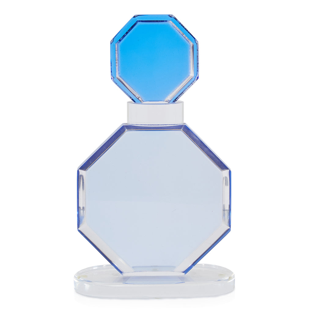 Blue Topped Octagonal Acrylic Sculpture