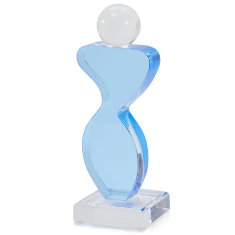 Blue Feminine Abstract Acrylic Sculpture