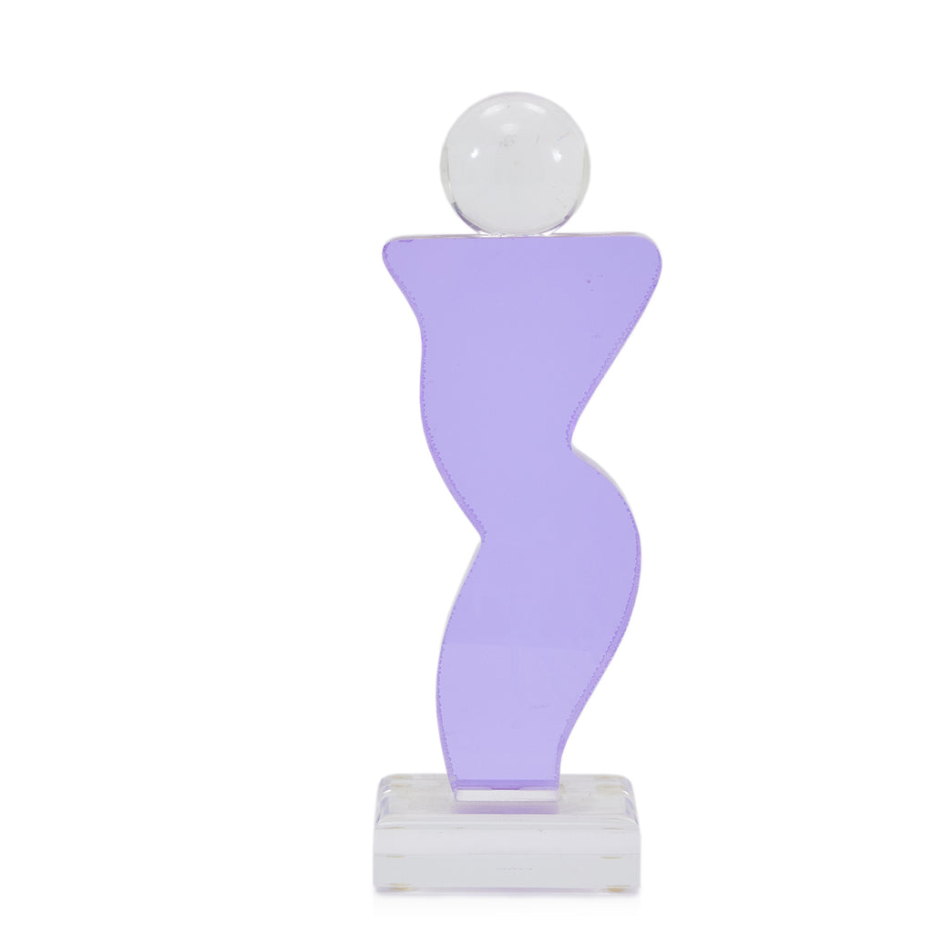 Purple Feminine Abstract Acrylic Sculpture
