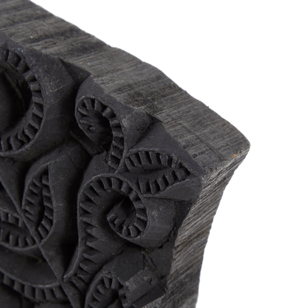 Black BFA Floral Wood Block