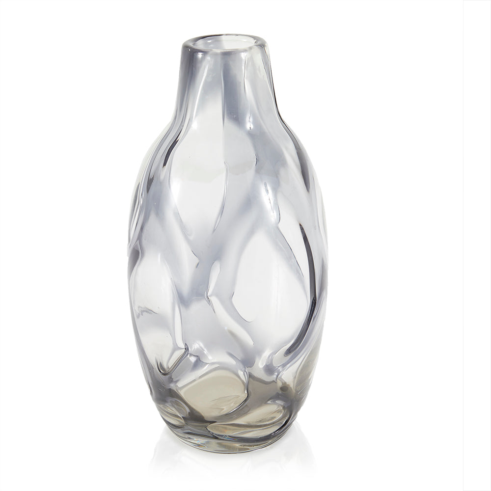 Clear BFA Indented Glass Vase