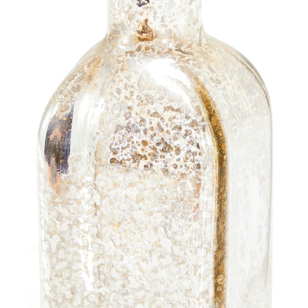 Clear BFA Metallic Decanter Vase